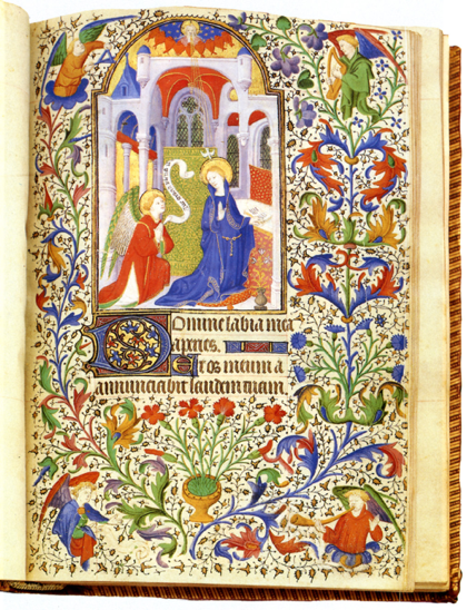 Medieval image of the Annunciation