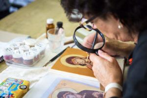 A student works on mastering the ancient techniques of iconography. PHOTOS: Laura Cheung, iCapture Photography