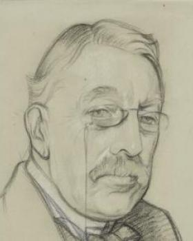 Drawing of Sir Charles Villiers-Stanford